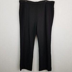 Shape FX Black Stretch Ponte Knit Pull-On Pants
